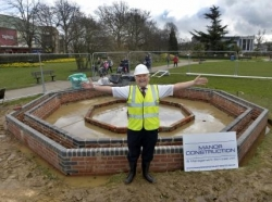 Bandstand construction gets underway