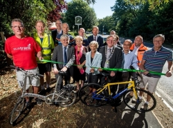 Green-ribbon cutting marks official opening of new shared pedestrian and cycle path